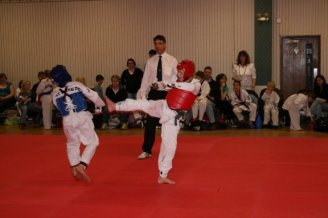 side kick in junior competition