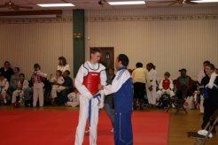Master Ali Pourterhaeri with a student