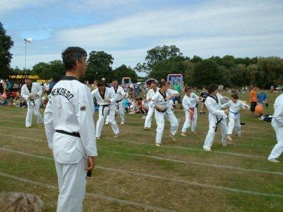 Downside group demo elbow strike