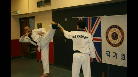 side kick demonstration