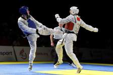 fighting at British Nationals