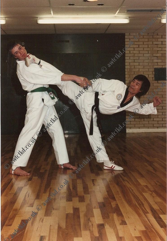 Master Yoon side kick