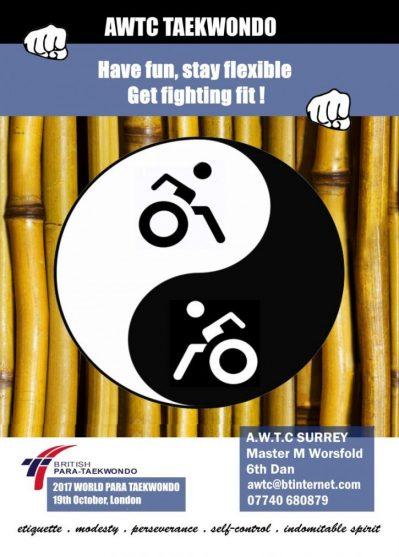 AWTC Para taekwondo leaflet