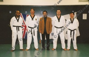 Master Yoon with senior belts