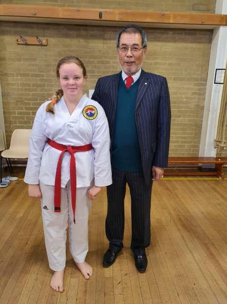 Judy with Grandmaster Yoon