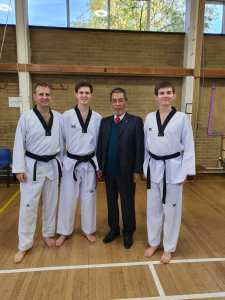 George, Guy and James with Grandmaster Yoon